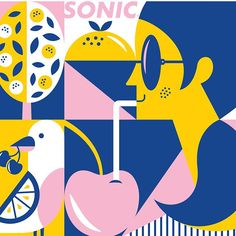 WEBSTA @tadcarpenter A few of my favorite little vignettes from our current @sonicdrivein summer packaging campaign. Make sure and go grab a shake and some fries, you've earned it!  If you go to Sonic, please share your cups and packaging with me. I'd love to see. 😊