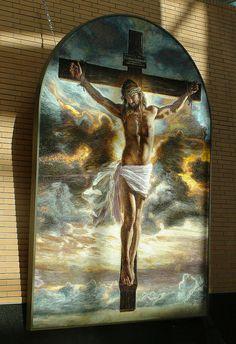 "Mia Tavonatti's ""Crucifixion"" mosaic - her work is amazing"