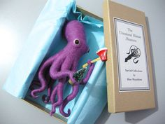 Etsy の OOAK Ax Wielding Octopus mixed lilac by hine