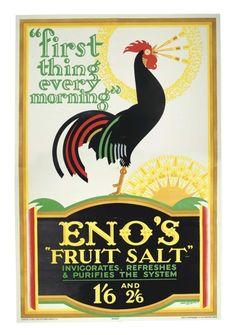 Rooster poster - Eno's Fruit Salt