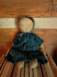 """Of CLOTH AND HAND ...~♥~just a tidbit  from me  Sherrie Nordgren~♥~in my humble opinion, This doll is """"Primitive"""""""