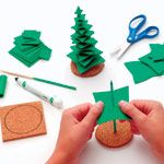 Craft foam Christmas trees for when you are board out of your mind waiting for Christmas to come because you just realized watching the clock dose not work.