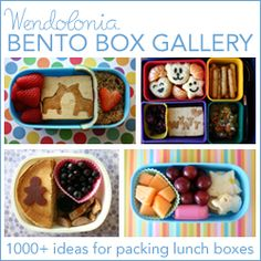 Lunch Box Idea List from Wendolonia. Bento Boxes help make lunchtime playtime for your kiddos! #nutrition #education www.wholekidsfoun...