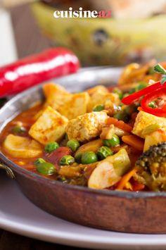 Une idée de plat végétarien à cuisiner pour la fête des mères : un curry végétarien au tofu et aux légumes. #recette#cuisine#curry#vegetarien #tofu #legume