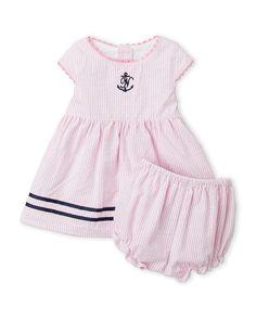 Nautica (Newborn/Infant Girls) Seersucker Dress & Bloomers Set Seersucker Dress, Infant Girls, Rompers, Rose, Accessories, Dresses, Fashion, Vestidos, Moda