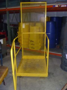 Starting at $10.00:    Maintenance safety platform with fork pockets as shown. 36W x 48L