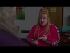 "This sketch is from ""Little Britain"" And I got the clip from YouTube. It's titled ""Vicky Pollard in a counselling session"" Vicky is an annoying chav character and she basically just rambles on and says a lot of random stuff that isn't relevant at all."
