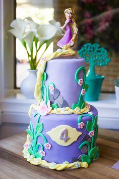 Rapunzel Disney Princess Cake $65, 3d cakes, birthday cakes, 2 tier princess cake.