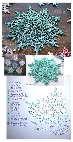 Free Crochet Doily Patterns, Crochet Snowflake Pattern, Embroidery Flowers Pattern, Crochet Circles, Crochet Snowflakes, Crochet Chart, Crochet Squares, Crochet Dollies, Crochet Wool