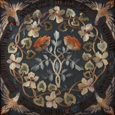 """Maids of Honour"" c1900. May Morris, William's youngest daughter, was an important figure in the Arts and Crafts Movement. This screen shows her skills as both a designer and maker.."