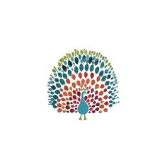 Brilliant Peacock : papernstitch : an exhibition space for fine art,... ($24) ❤ liked on Polyvore