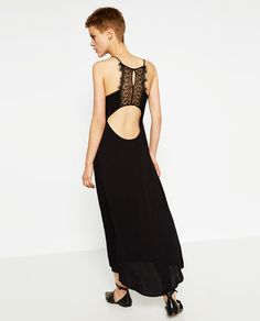 Image 5 of DRESS WITH LACE BACK from Zara