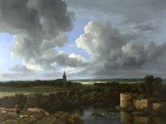 Jacob van Ruisdael, A Landscape with a Ruined Castle and a Church
