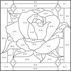 Stained Glass Patterns Free, Stained Glass Quilt, Stained Glass Flowers, Stained Glass Designs, Stained Glass Panels, Stained Glass Projects, Leaded Glass, Mosaic Patterns, Intarsia Wood