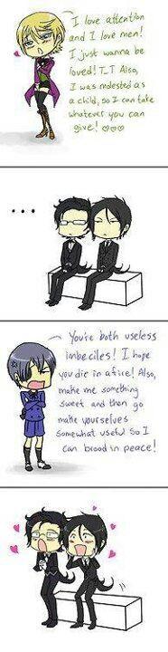 So true! I love Sebastian's face on the last one XD