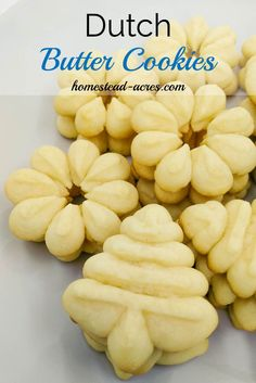 Perfect Dutch Butter Cookies.  These cookies are rich and creamy a must have spritz cookie for your Christmas cookie trays. http://www.homestead-acres.com/dutch-butter-cookies/?utm_campaign=coschedule&utm_source=pinterest&utm_medium=Kim%20Mills%20%7C%20Homestead%20Acres%20%7C%20Homeschooling%20%2B%20Homesteading%20Tips&utm_content=Dutch%20Butter%20Cookies