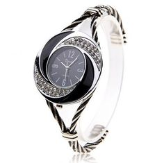 Stunning Silver Bracelet Watch For Ladies