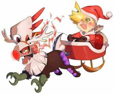 "Silvally the red nosed amalgamation, had a very shiny nose, and if you ever saw it, you might even say it glows, all of the Aether Foundation, at him they used to scorn and jeer, they never let poor Silvally, have any kind of cheer, then one misty Christmas Eve, Gladion came to say, ""Silvally, with your nose so bright, let's escape Aether Paradise tonight!!!"" Oh how Gladion loved him, that he even shouted with glee, ""Silvally the red nosed amalgamation, you'll go down in history!!!!"