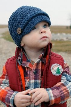 Textured Newsboy Hat / You Choose Colors and Size by MyMojoBaby, $22.00