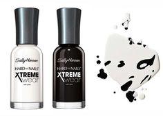 Lakiery Xtrene Wear Sally Hansen - czarny i biały