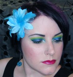 Green Teal Purple Look Tutorial