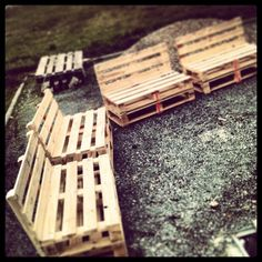outdoor seating pallets to paint then some super comfy cushions - maybe make them longer so you can put your legs out.