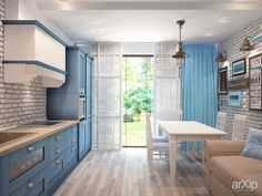 Шале на ЮБК от Витта-групп: интерьер, квартира, дом, кухня, 30 - 50 м2, кантри arXip.com