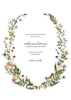 Fleurs Sauvages Rehearsal Dinner | Paper Source