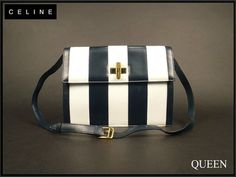 Celine Black & White Calfskin Leather  by VintageBagsGalore, $397.00