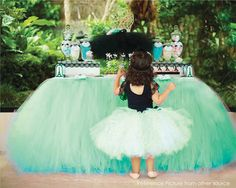 Tinkerbell inspired Green Table Tutu Skirt MADE TO ORDER Tulle Tableskirt for Disney Fairy Birthday Party Baby Boy Shower Graduation Event by All4partytime on Etsy https://www.etsy.com/listing/268891686/tinkerbell-inspired-green-table-tutu