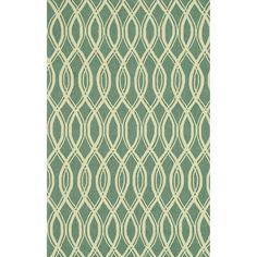 Hand-hooked Indoor/ Outdoor Capri Turquoise Rug (5' x 7'6) - Overstock™ Shopping - Great Deals on Alexander Home 5x8 - 6x9 Rugs