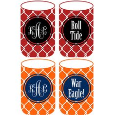 Customizable Koozies for every SEC team! How darling are these? $12, discounts for orders of 8 or more. #Bama #Auburn