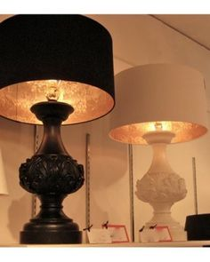 diy gold leaf lamp shades