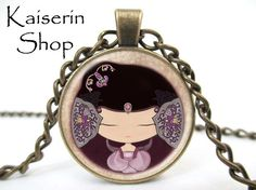 Chinese Doll Necklace, Asian Neckkace, Pendant, Charm, Jewelry by KaiserinShop on Etsy