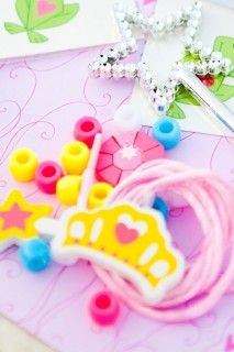 Princess Party Craft Ideas ~ Make Your Own Princess Necklace
