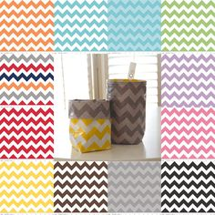 Wastebasket car trash can use anywhere trash can CHOOSE your own chevron laminated cotton waterproof WASTIE plus FREE Command Hook