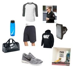 """Work out"" by kaitlyn-ogg on Polyvore featuring NIKE, mens, men, men's wear, mens wear, male, mens clothing and mens fashion"