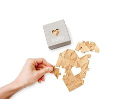 Valentine's Day Greeting Card Jigsaw Puzzle Heart shaped, Mint : Office Products