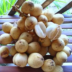 Lanzones - sweet and succulent little round fruits. The sweetest lanzones come from the province of Camiguin, where they hold an annual festival celebrating the lanzones fruit.