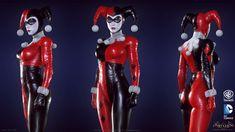 "ArtStation - Batman: Arkham Knight DLC, Harley Quinn Game Model, Jocelyn ""jocz"" Zeller"