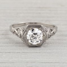 Vintage ring. Gosh  love the classics. The more I look at it, the more I love it!