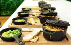 Mini pan and Mini cocotte (Iron cast) - Ajidesign    Chef: Juan Pedro Demuru