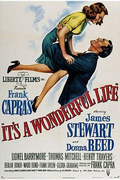 Vintage Classic Movie Poster Print IT'S A WONDERFUL LIFE with James Stewart