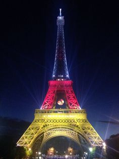 Shut up about terrorism already. We lit up the Eiffel Tower, okay? Stop worrying, jeez I can't even. Pray For Paris, Paris Love, Berlin, Tour Eiffel, Eiffel Tower Lights, Eiffel Towers, Germany Football, Dfb Team, Paris Attack