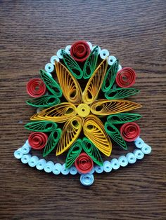 Quilling Paper Craft, Paper Crafts, Quilling Christmas, Quilling Patterns, Felting, Paper Art, Origami, Projects To Try, Xmas
