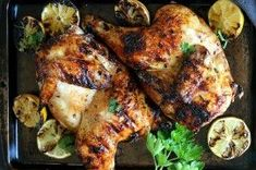 This Honey Ginger Grilled Split Chicken is the most delicious jaw-dropping and moist chicken you will ever eat! Moist Chicken, Fried Chicken, Tandoori Chicken, Honey Sauce, Ginger Sauce, Tasty Kitchen, Italian Chicken Casserole, Chicken Quarters, Leg Quarters