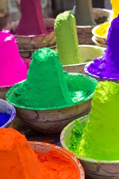 """""""Mere color, unspoiled by meaning, and unallied with definite form, can speak to the soul in a thousand different ways. Holi Festival India, Holi Powder, India Colors, Happy Holi, Indian Festivals, Colour Board, World Of Color, Over The Rainbow, Photography Portfolio"""
