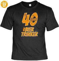 Cooles T-Shirt zum 40.Geburtstag : 40 / 40 Jahre Biertrinker - Sprücheshirt 40 Jahre Gr: 5XL Farbe: schwarz - Shirts zum 40 geburtstag (*Partner-Link)