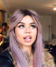 Lavender shades like this are perfect for warmer skin tones #fairskin #haircolor #hairfashion #pastelhair