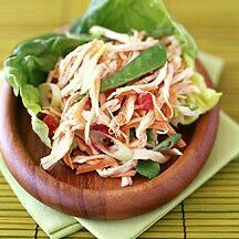 Weight Watchers Chinese chicken salad with creamy soy dressing. Ww Recipes, Asian Recipes, Great Recipes, Healthy Recipes, Ethnic Recipes, Skinny Recipes, Detox Recipes, Recipe Ideas, Dinner Recipes